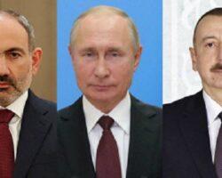 Глава Кремля провел телефонный разговор с Пашиняном и Алиевым