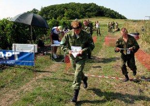 Команда 4-ой военной базы принимает участие в конкурсе по военно-спортивному ориентированию на кубок 58 армии ЮВО