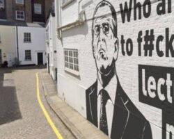 Граффити в Лондоне с изображением и фразой Лаврова оказалось фейком